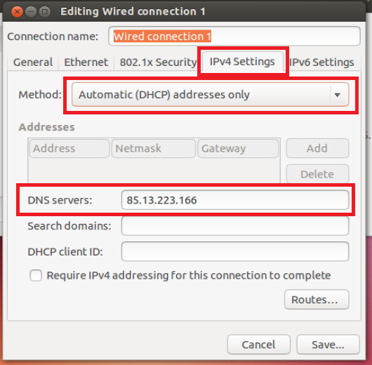 Install and configure DNS server in Ubuntu 16.04 LTS