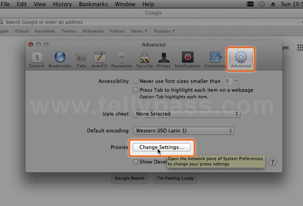 Configure mac proxy - TellyPass